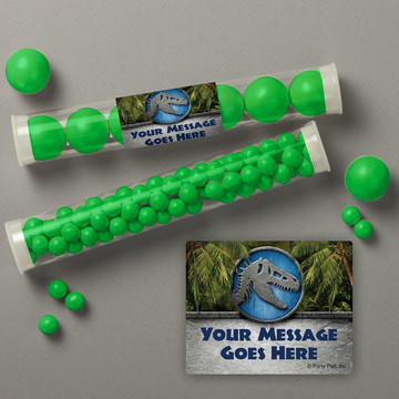 Jurassic Personalized Candy Tubes (12 Count)