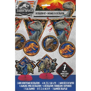Jurassic World: Fallen Kingdom Decoration Kit (7 Pieces)