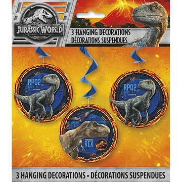 Jurassic World Fallen Kingdom Hanging Swirl Decorations 3