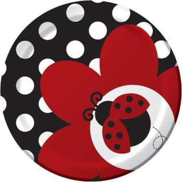 Ladybug Party Cake Plates (8-pack)