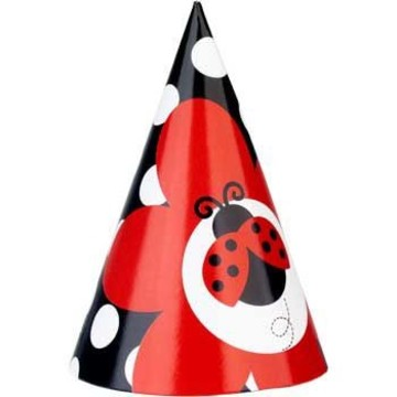 Ladybug Party Hats (8-pack)