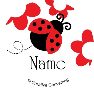 Ladybug Party Personalized Mini Stickers (Sheet of 20)