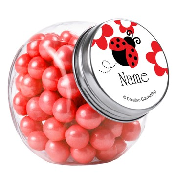Ladybug Party Personalized Plain Glass Jars (10 Count)