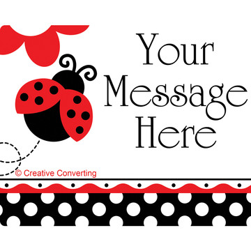 Ladybug Party Personalized Rectangular Stickers (Sheet of 15)