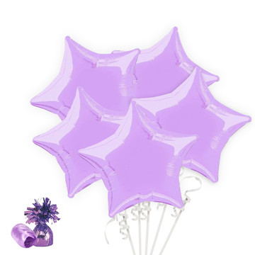 Lavender Star Balloon Bouquet Kit