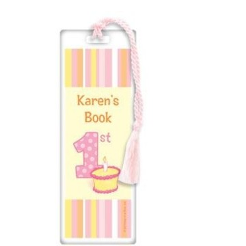 Lil' Girl 1st Birthday Personalized Bookmark (each)