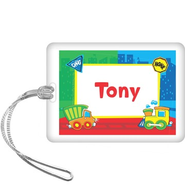 Little Truck Party Personalized Bag Tag (each)