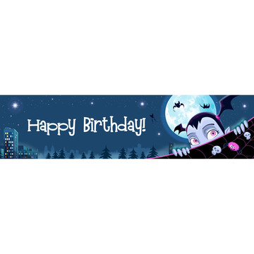 Little Vampire Happy Birthday Banner (Each)