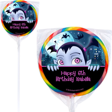 Little Vampire Personalized Lollipops (12 Pack)