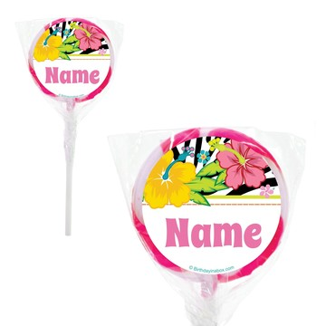 "Luau Fun Personalized 2"" Lollipops (20 Pack)"