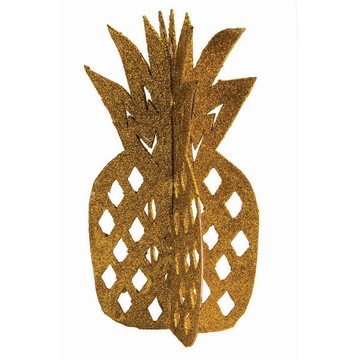 Luau Luxe 3-D Glitter Pineapple Table Decor