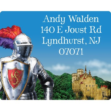 Medieval Knight Personalized Address Labels (Sheet of 15)