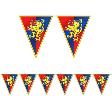 Medieval Pennant Flag 12' Banner Decoration (Each)