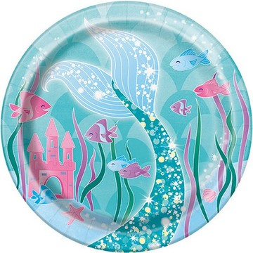 "Mermaid 7"" Dessert Plate (8)"