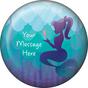 Mermaid Under the Sea Personalized Magnet (Each)
