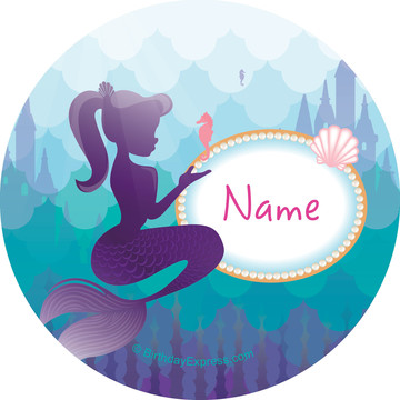 Mermaid Under the Sea Personalized Mini Stickers (Sheet of 24)