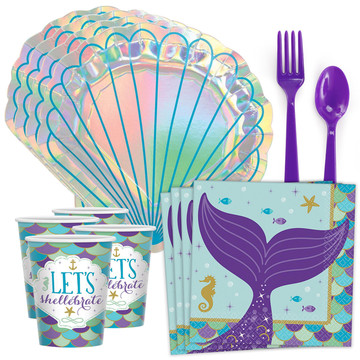 Mermaid Wishes Shell Standard Tableware Kit (Serves 8)
