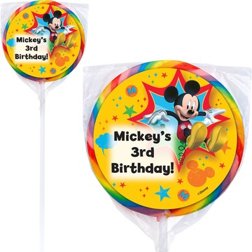 Mickey Mouse Personalized Lollipops (12 Pack)