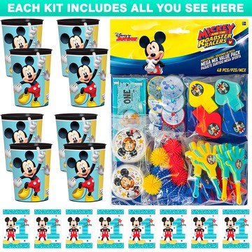 Mickey's 1st Birthday Favor Kit (For 8 Guests)