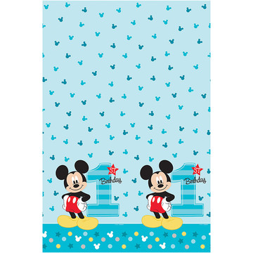 Mickey's Fun To Be One Plastic Table Cover (Each)