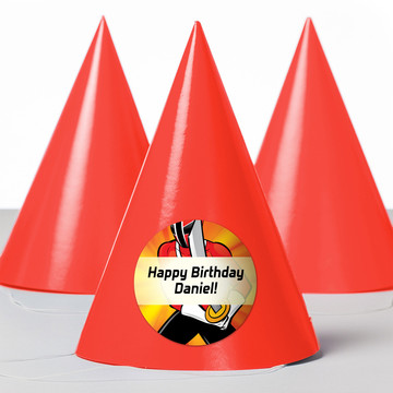 Mighty Heroes Personalized Party Hats (8 Count)