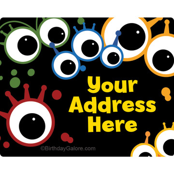 Mighty Monster Personalized Address Labels (Sheet of 15)