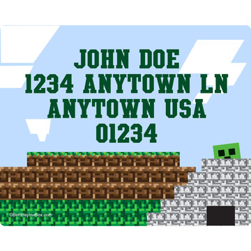 Mine Craft Personalized Address Labels (Sheet of 15)