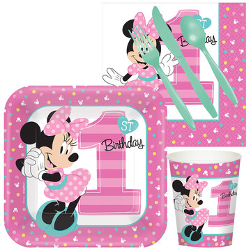 Minnie 1st Birthday Standard Kit Serves 8 Guests