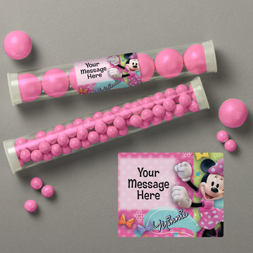 Minnie Mouse Personalized Candy Tubes (12 Count)