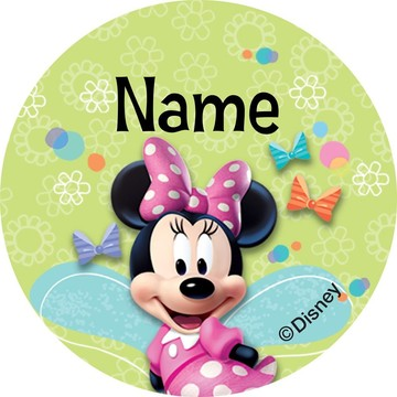 Minnie Mouse Personalized Mini Stickers (Sheet of 20)