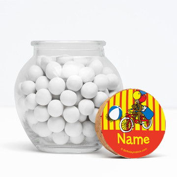 "Monkey Personalized 3"" Glass Sphere Jars (Set of 12)"