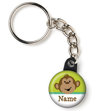 "Monkeying Around Personalized 1"" Mini Key Chain (Each)"