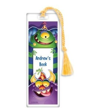 Monster Party Personalized Bookmark (each)