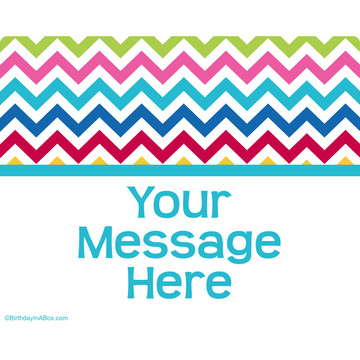 Multi Chevron Personalized Rectangular Stickers (Sheet of 15)