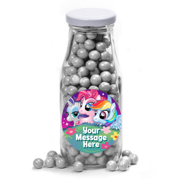 My Little Party Pony Personalized Glass Milk Bottles (12 Count)