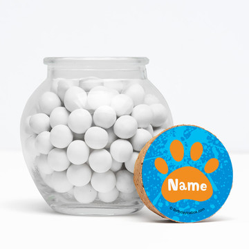 "Mystery Dog Personalized 3"" Glass Sphere Jars (Set of 12)"