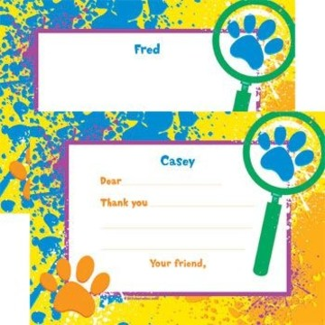 Mystery Dog Personalized Thank You Note (each)