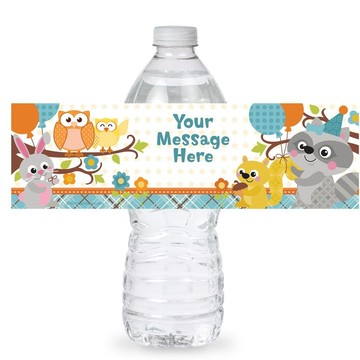 Nature Blue Personalized Bottle Label (Sheet of 4)