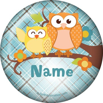 Nature Blue Personalized Button (Each)
