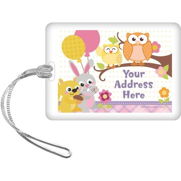 Nature Pink Personalized Luggage Tag (Each)