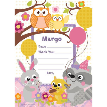 Nature Pink Personalized Thank You (Each)