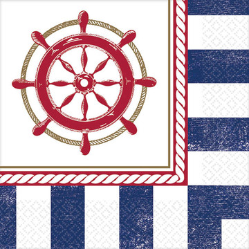 Nautical Beverage Napkins (16 Count)