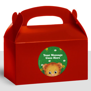 Neighborhood Tiger Personalized Treat Favor Boxes (12 Count)