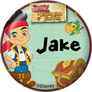Never Land Pirates Personalized Mini Button (Each)