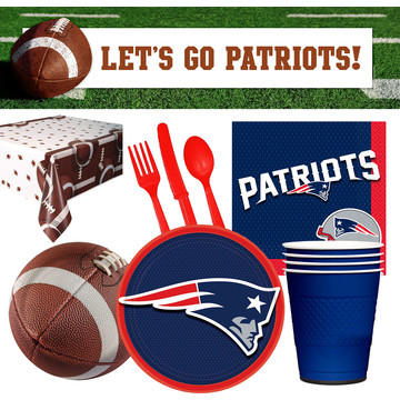 NFL New England Patriots Tailgate Decoration Party Pack (For 16 Guests)