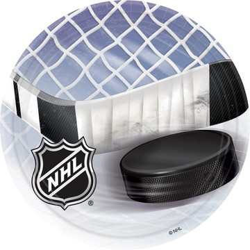 NHL Hockey Luncheon Plates (8 Pack)