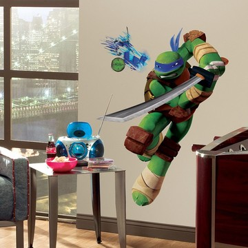 Ninja Turtles Leonardo Giant Wall Decal (Each)