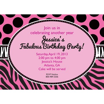 Oh So Fabulous Personalized Invitation (Each)