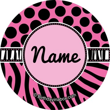 Oh So Fabulous Personalized Mini Stickers (Sheet of 20)