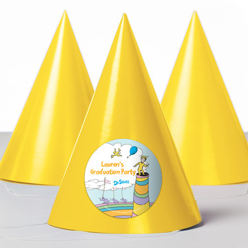 Oh The Places You'll Go Personalized Party Hats, 8ct